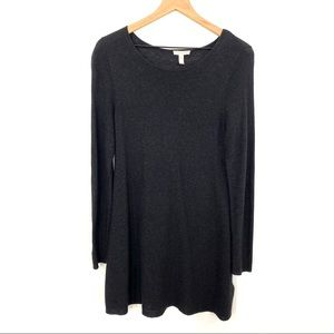 Eileen Fisher | Dark Grey Long Tunic Sweater Dress